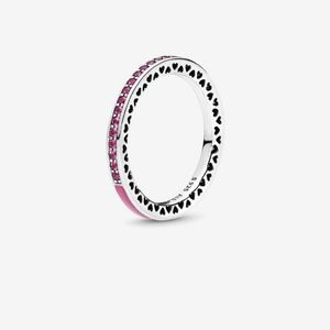 Pandora Radiant Orchid and Cerise Crystal Ring